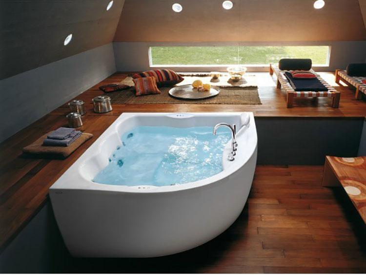 Modello di vasca da bagno idromassaggio angolare n.02