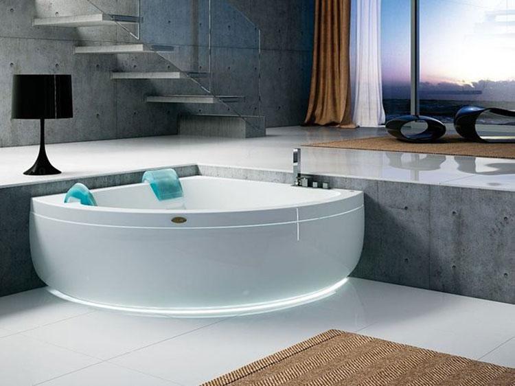 Modello di vasca da bagno idromassaggio angolare n.03