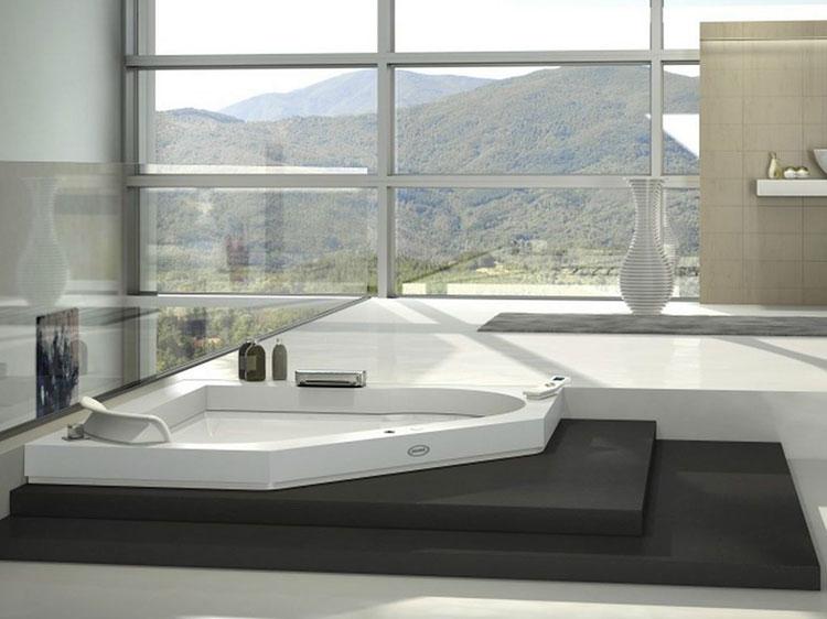 Modello di vasca da bagno idromassaggio angolare n.04