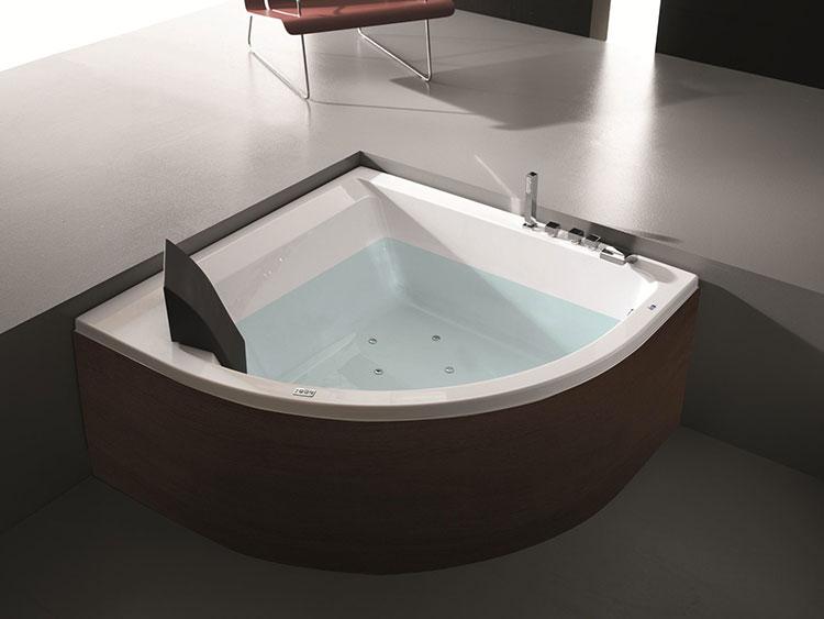 Modello di vasca da bagno idromassaggio angolare n.05