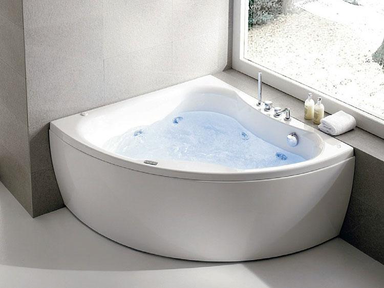 Modello di vasca da bagno idromassaggio angolare n.06