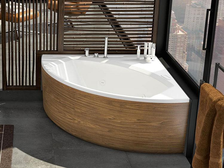 Modello di vasca da bagno idromassaggio angolare n.07