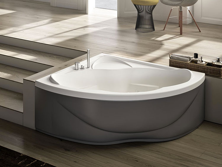 Modello di vasca da bagno idromassaggio angolare n.08