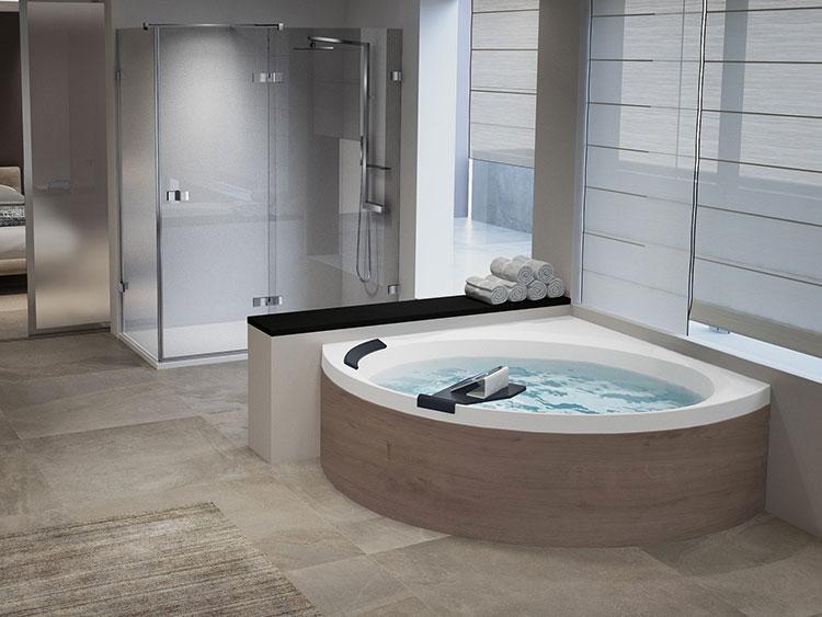 Modello di vasca da bagno idromassaggio angolare n.09