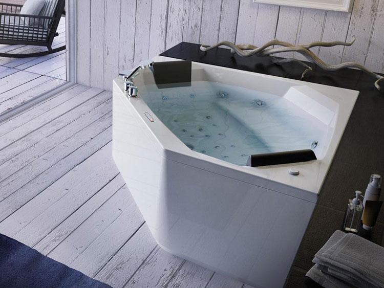 Modello di vasca da bagno idromassaggio angolare n.10