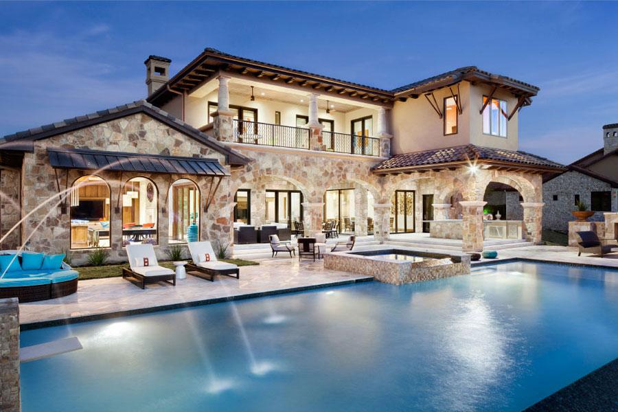 16 spettacolari ville di lusso con piscina for Case di lusso interni foto