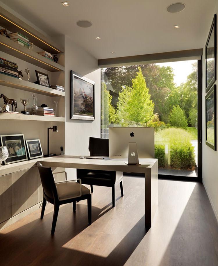 25 spettacolari idee di arredo ufficio a casa con vista for Ufficio architetto design