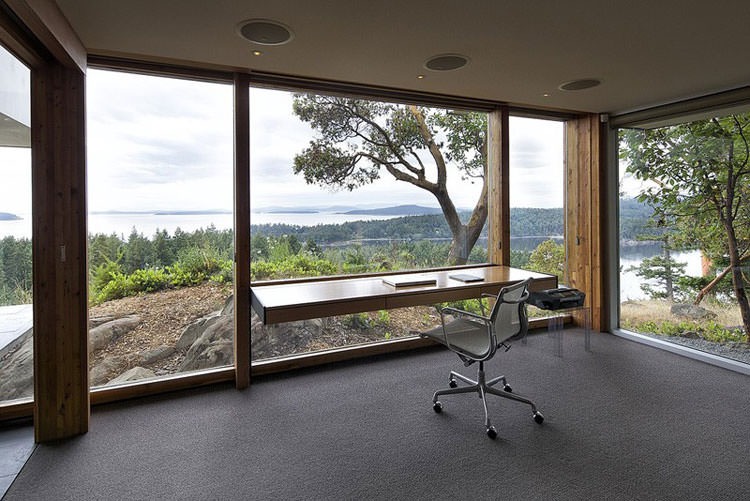 25 spettacolari idee di arredo ufficio a casa con vista for Arredamento originale casa