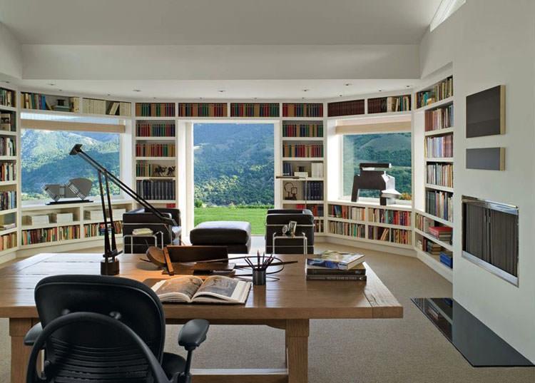 Arredamento per ufficio a casa con vista panoramica n.09