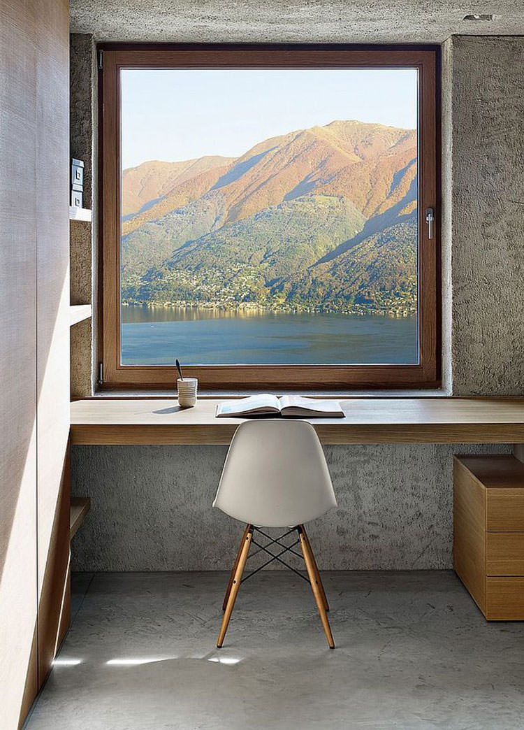 25 spettacolari idee di arredo ufficio a casa con vista for Arredamento mobili casa