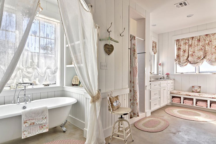 20 bagni shabby chic economici in stile provenzale for French style bathroom design