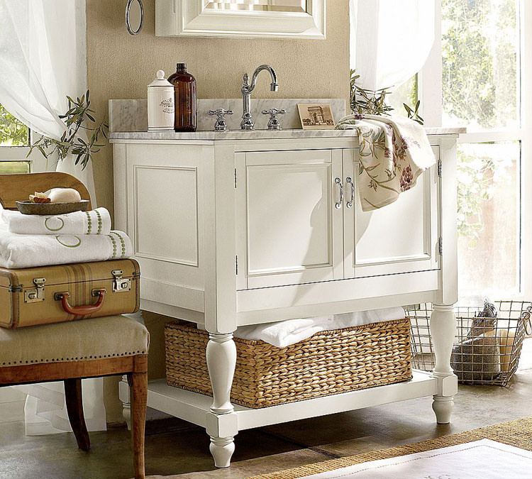 20 bagni shabby chic economici in stile provenzale. Black Bedroom Furniture Sets. Home Design Ideas