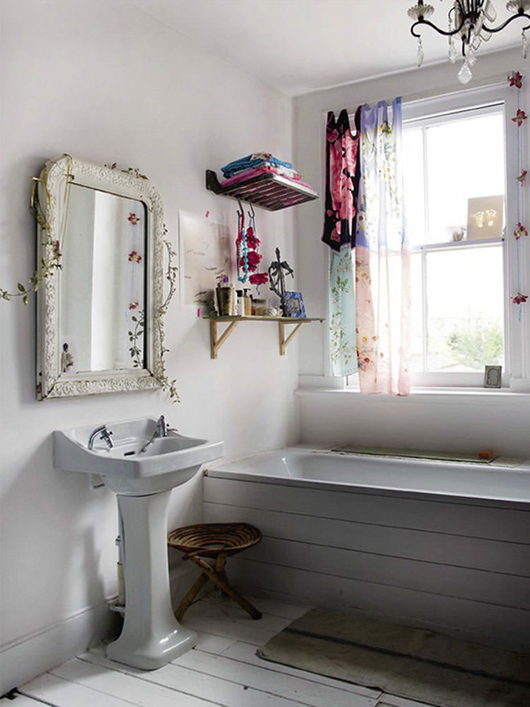 20 bagni shabby chic economici in stile provenzale - Economic bathroom designs ...