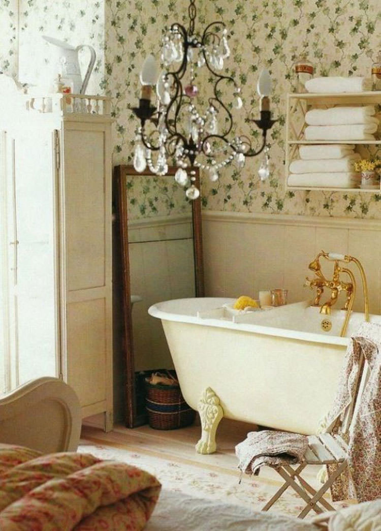 Bagno shabby chic in stile provenzale n.09