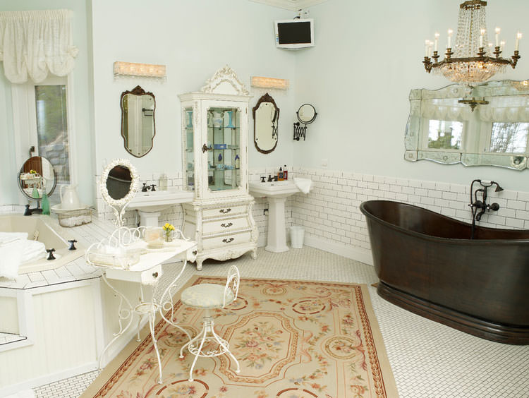 Bagno shabby chic in stile provenzale n.10