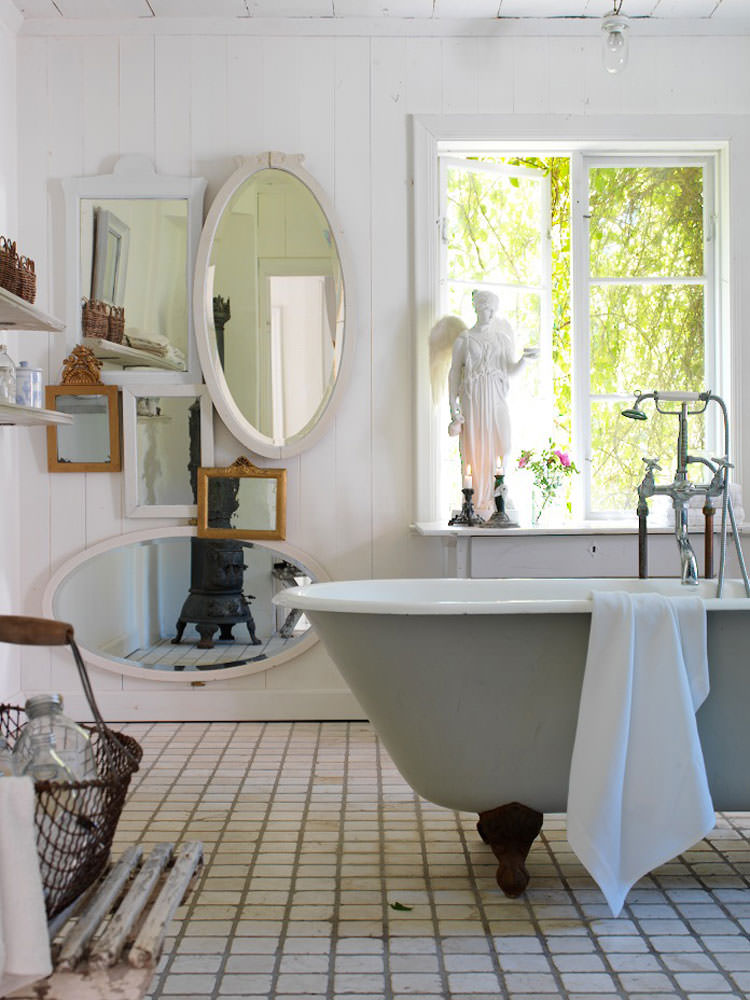 Bagno shabby chic in stile provenzale n.13
