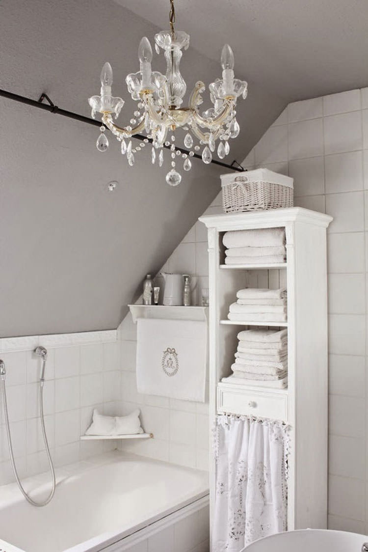 Bagno shabby chic in stile provenzale n.15