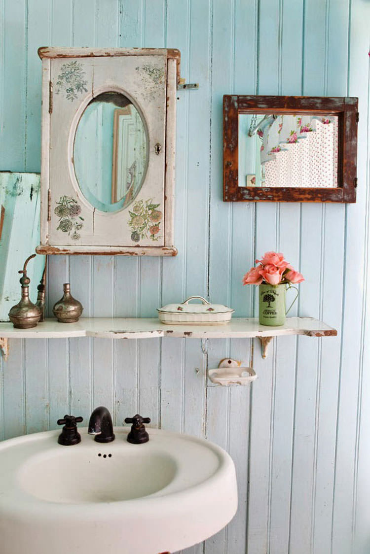Bagno shabby chic in stile provenzale n.16