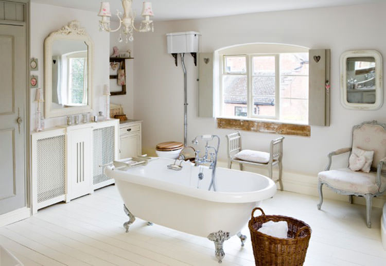 Bagno shabby chic in stile provenzale n.19