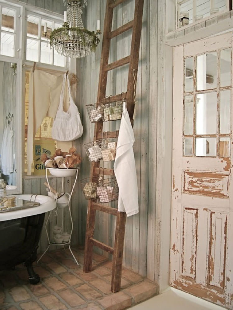 Bagno shabby chic in stile provenzale n.20