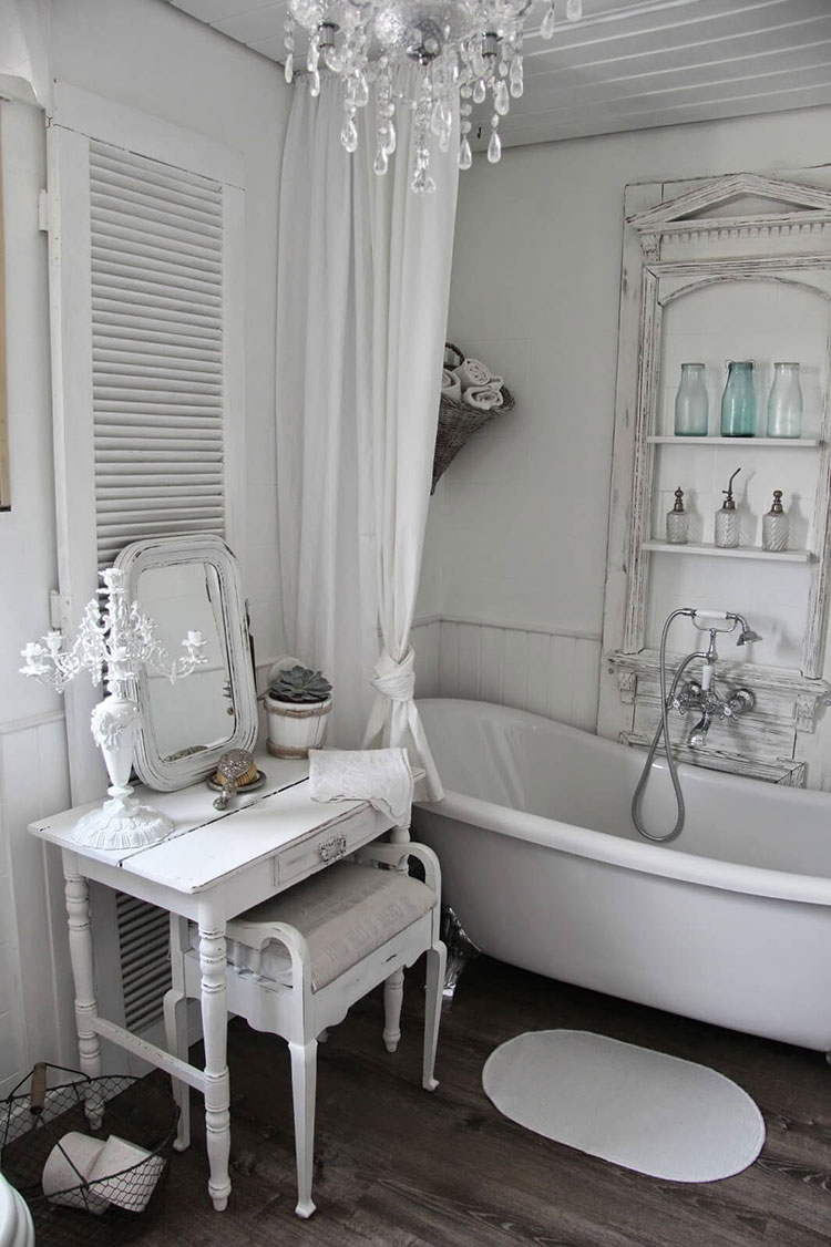 Bagno shabby chic in stile provenzale n.21