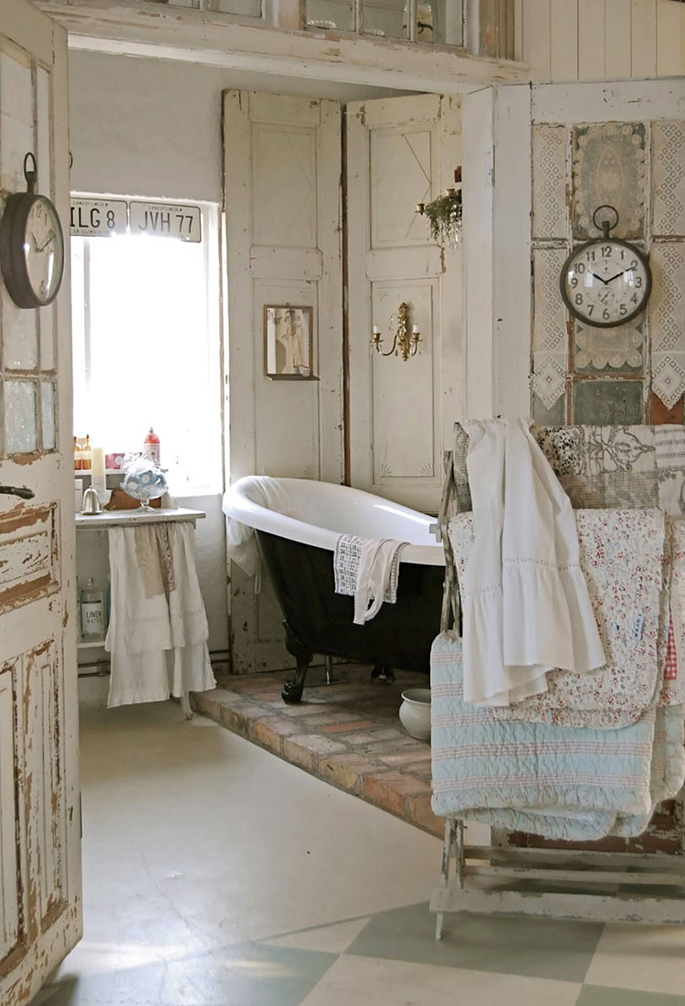 Bagno shabby chic in stile provenzale n.23
