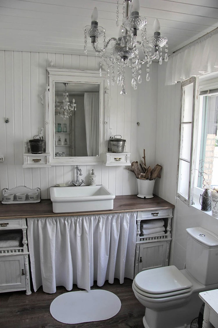 Bagno shabby chic in stile provenzale n.24