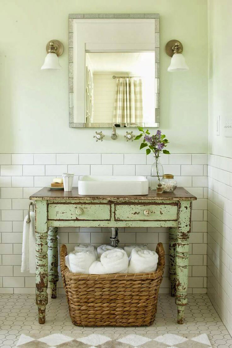 Bagno shabby chic in stile provenzale n.25