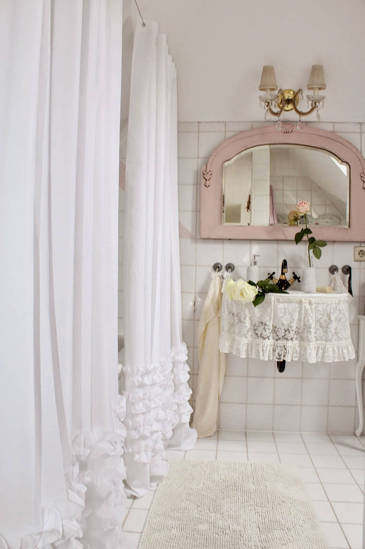 Bagno shabby chic in stile provenzale n.29