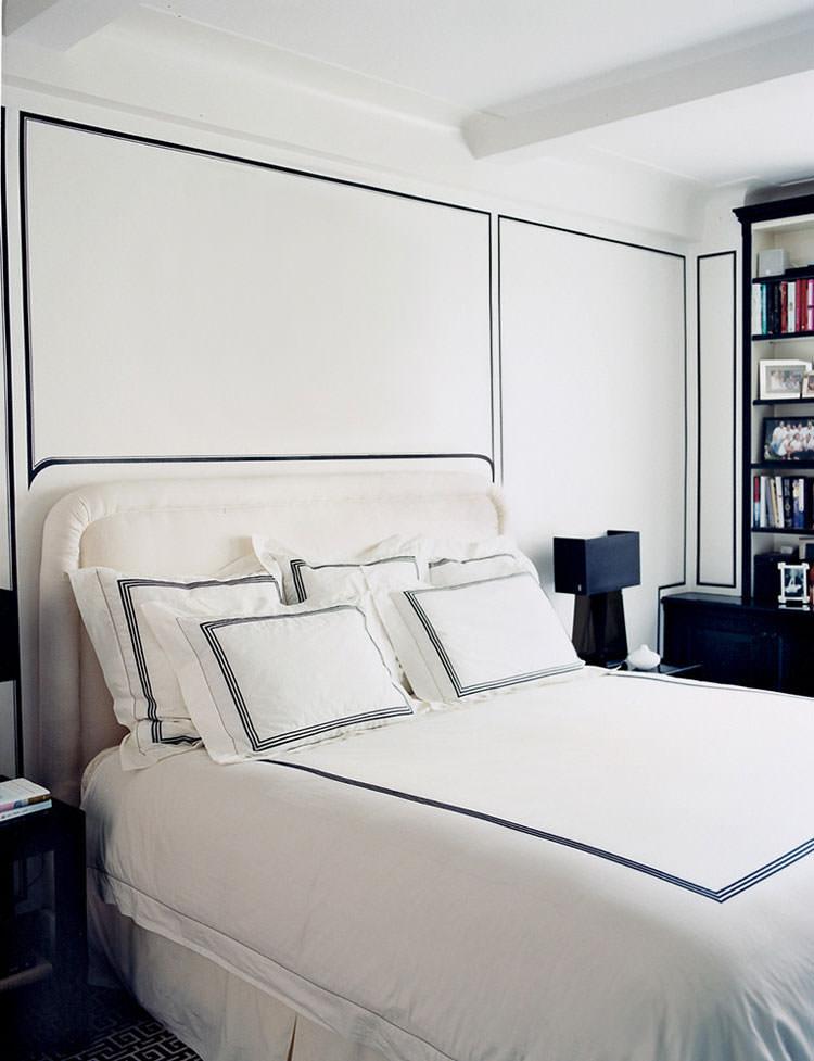 Camera da letto elegante in bianco e nero n.12