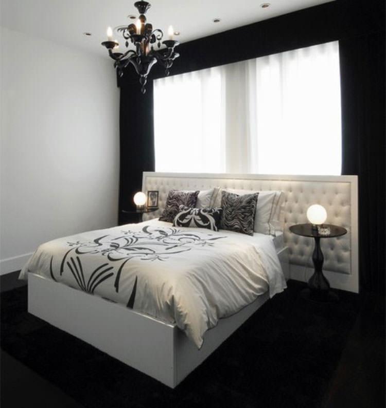 Camera da letto elegante in bianco e nero n.17