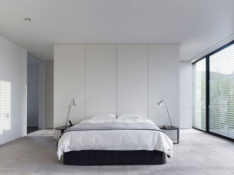 Camera da letto elegante in bianco e nero n.18