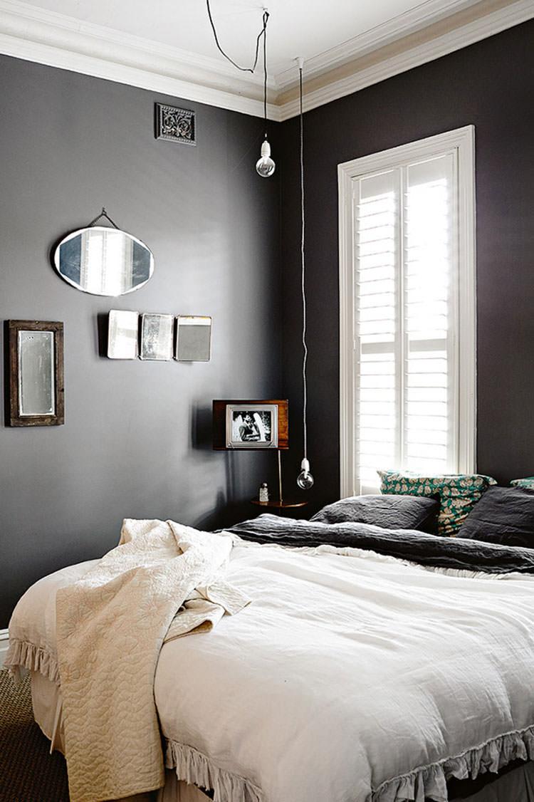Camera da letto elegante in bianco e nero n.20