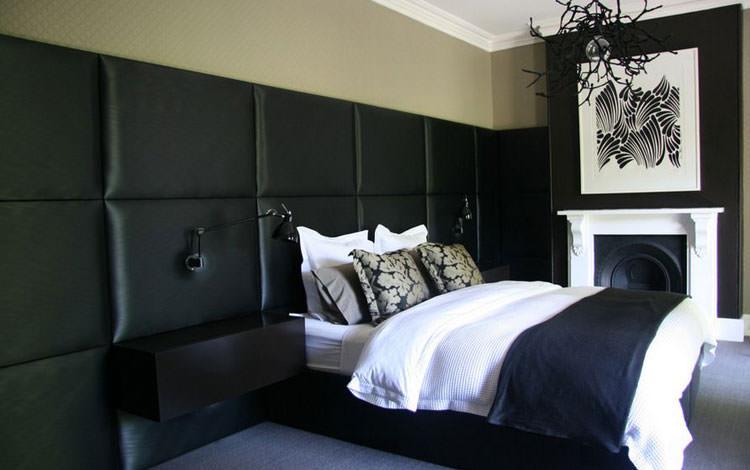 Camera da letto elegante in bianco e nero n.35
