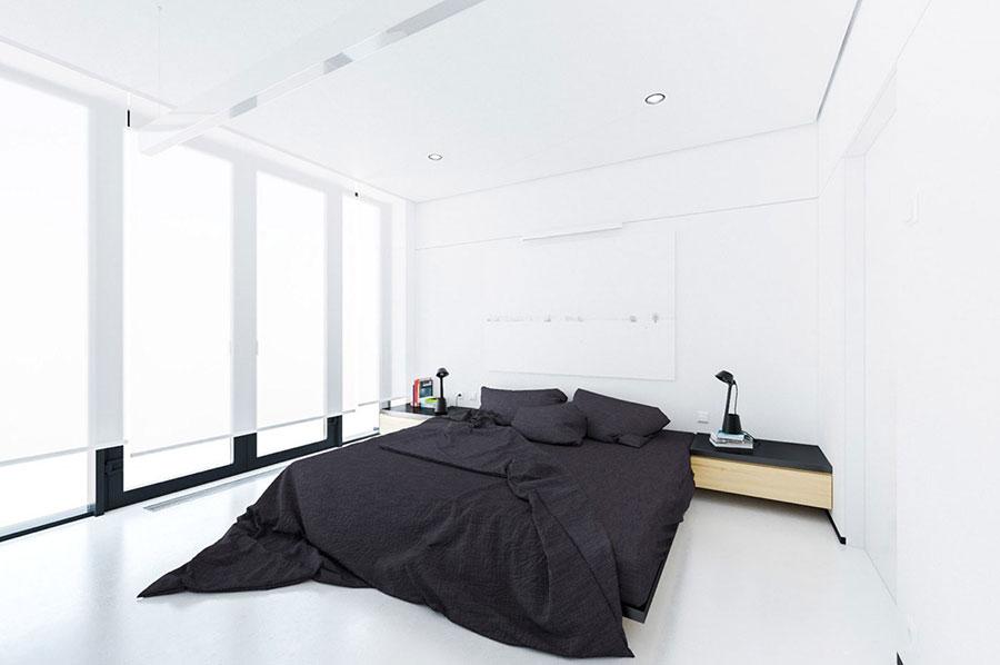 Arredamento camera da letto in bianco e nero n.44