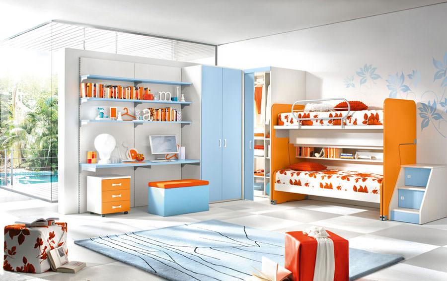 Cameretta per bambini dal design moderno n.09