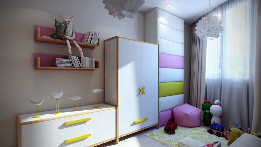 Cameretta per bambini dal design moderno n.15