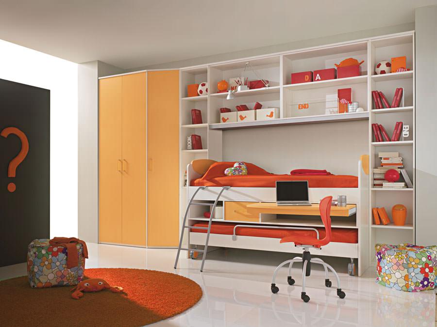 Cameretta per bambini dal design moderno n.30
