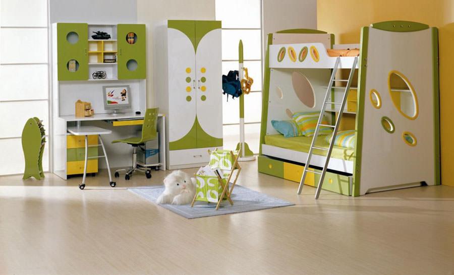 Cameretta per bambini dal design moderno n.35