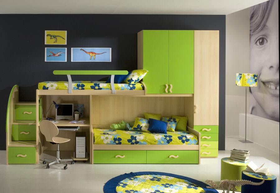 Cameretta per bambini dal design moderno n.38