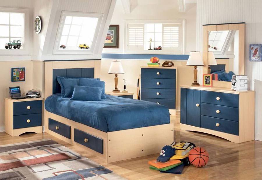 Cameretta per bambini dal design moderno n.39