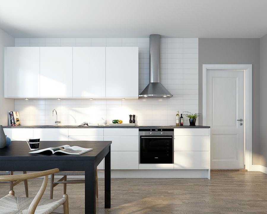 Cucina bianca dal design in stile scandinavo n.03