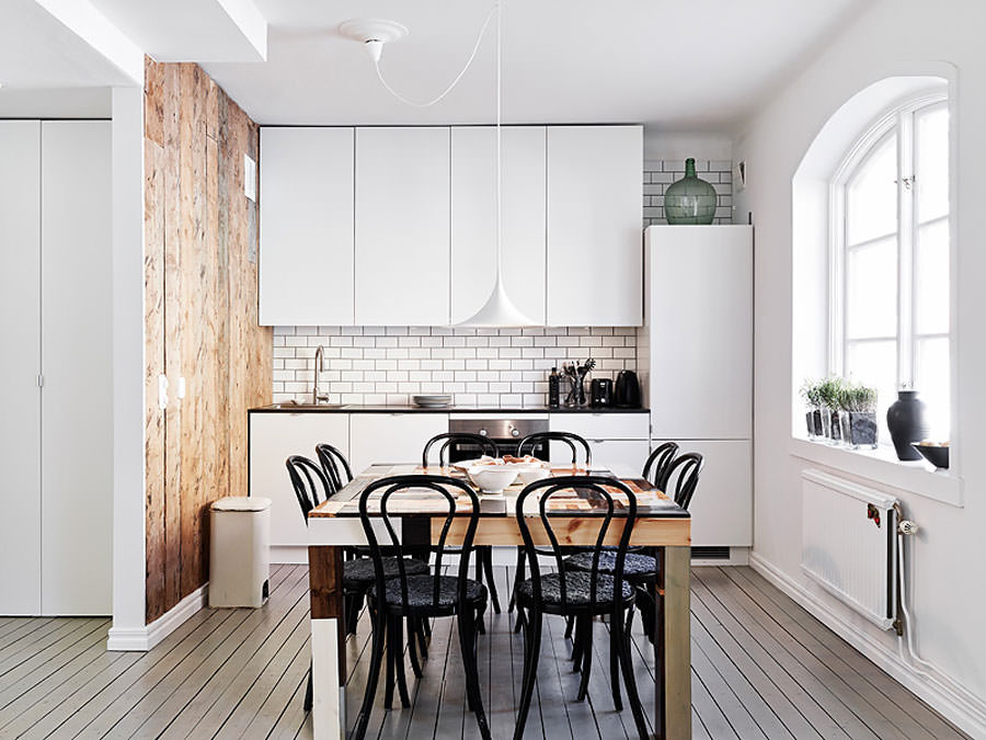 Cucina bianca dal design in stile scandinavo n.06