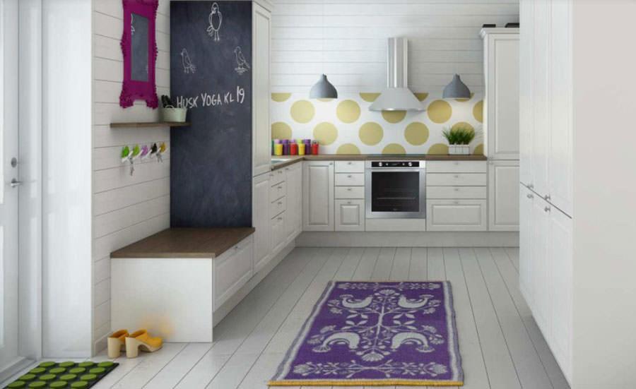 Cucina bianca dal design in stile scandinavo n.23