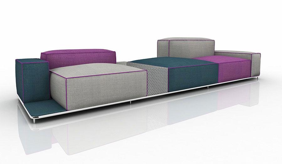 Divano modulare dal design moderno n.57
