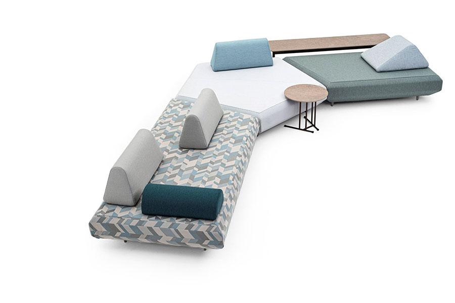 Divano modulare dal design moderno n.70