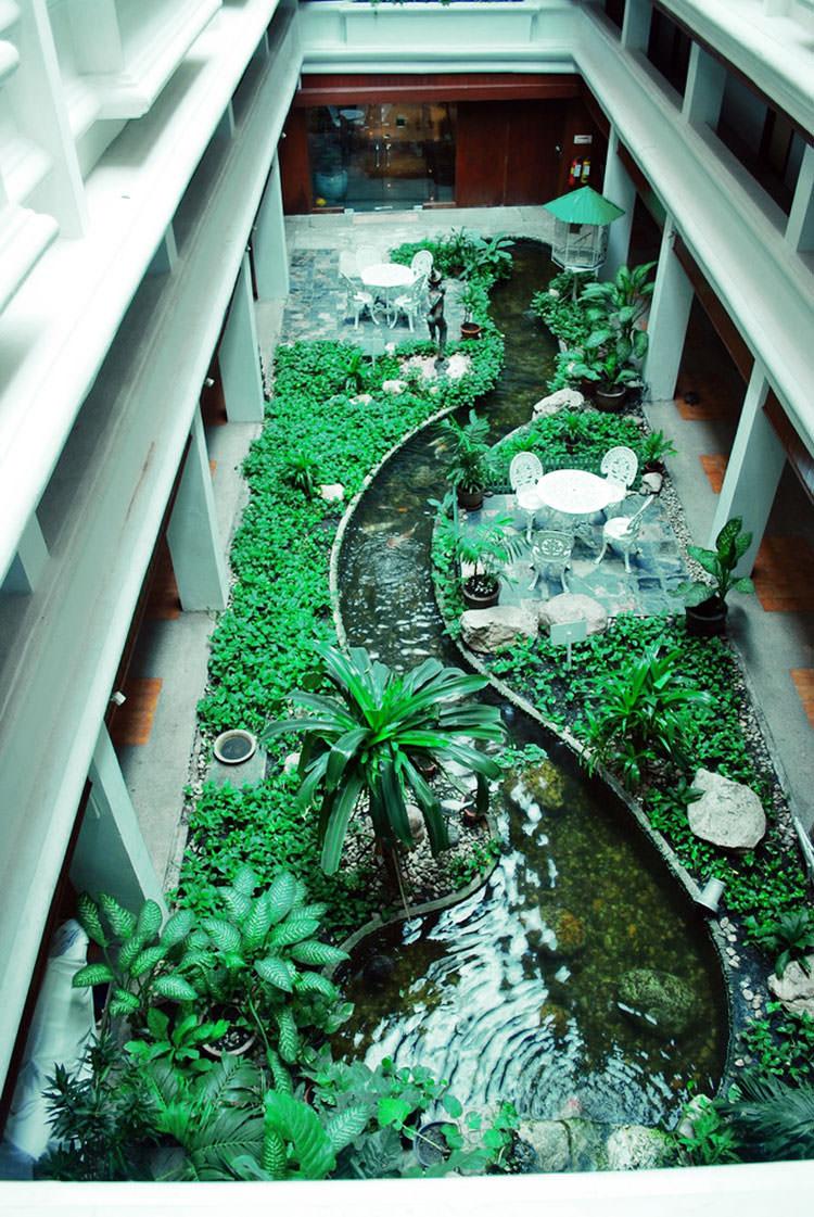 Idee per la creazione di giardini interni n.17