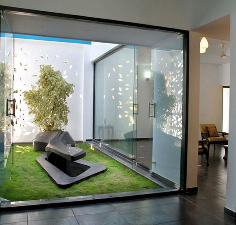 Idee per la creazione di giardini interni n.24