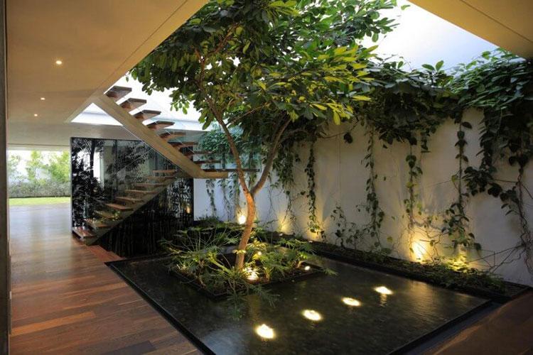Idee per la creazione di giardini interni n.36