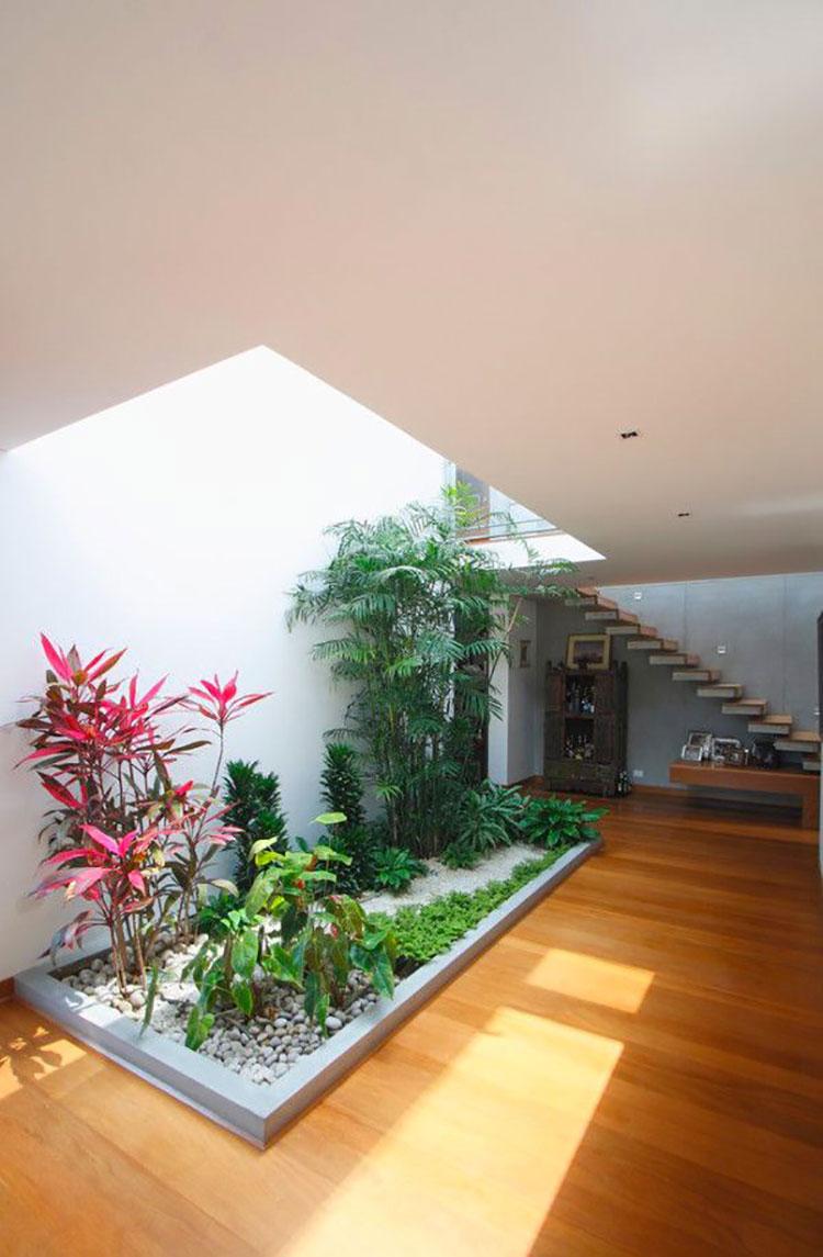 Idee per la creazione di giardini interni n.39
